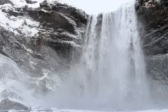 Skogafoss waterfall in Iceland stock image