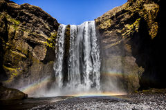 Skógafoss Waterfall - Iceland Royalty Free Stock Photos