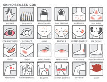 Skór chorob ikona Obrazy Stock