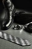 skóra czarny elegancki styl Zdjęcia Royalty Free