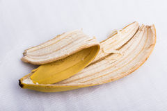 Skóra dojrzały banan obraz stock