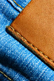 skóra etykiety Zdjęcia Royalty Free