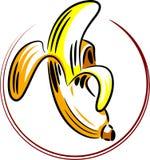 Skóra obrany bananowy owocowy rysunek Zdjęcia Royalty Free