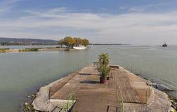 Skórniczy teren na jeziornym Balaton, Keszthely, Węgry Obrazy Stock