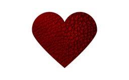 Skóry czerwieni serce Obraz Stock
