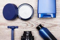 Skóry opieki kosmetyki dla mężczyzna Zdjęcia Royalty Free