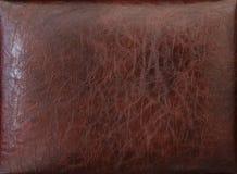 Skóry tekstura z tyłu łóżka Fotografia Royalty Free