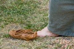 skórzane buty Zdjęcia Royalty Free