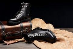 skórzane buty Zdjęcie Royalty Free