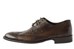 skórzane buty brown Obrazy Royalty Free