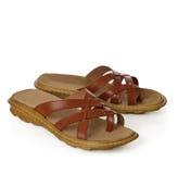 skórzane sandały Fotografia Royalty Free