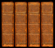 skórzany książkowy stary rocznik kręgosłupa Obrazy Royalty Free