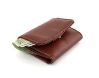 skórzany portfel. Zdjęcie Stock