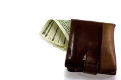 skórzany portfel brown Obraz Stock