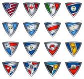sköld för Amerika samlingsflagga Arkivfoto