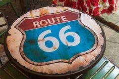 sköld för 66 route Arkivfoton