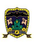 sköld isolerade halloween stock illustrationer