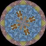 Sköld med blom- symbol Royaltyfria Bilder