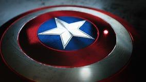 Sköld med en stjärna, superherosköld, komikersköld royaltyfria bilder