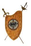 Sköld och svärd Royaltyfria Bilder