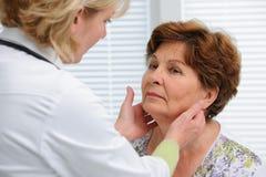 Sköldkörtelfunktionsundersökning Fotografering för Bildbyråer