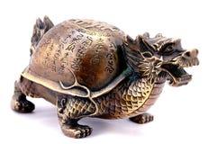 sköldpadda för drakefengshui Arkivfoton
