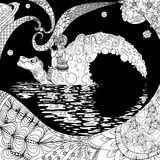 Sköldpadda-måne Stock Illustrationer