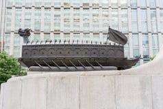 Sköldpaddafartyg av Joseon dynasti av Korea fotografering för bildbyråer