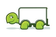 Sköldpaddaflyttninglastbil Arkivbilder