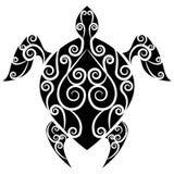 Sköldpaddan virvlar runt tatueringen Royaltyfri Bild