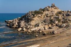 Sköldpaddastrand Alagadi i det medelhavs- Royaltyfri Foto