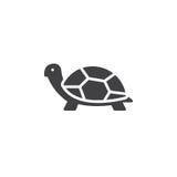 Sköldpaddasymbolsvektor, fyllt plant tecken vektor illustrationer