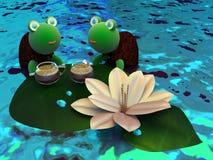 Sköldpaddor på vilar Fotografering för Bildbyråer