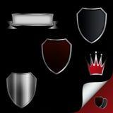 Sköldsamling. royaltyfri illustrationer