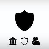 Sköldsymbol, vektorillustration Sänka designstil Royaltyfria Foton