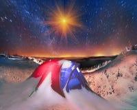 Skönhet av alpsna Arkivfoton