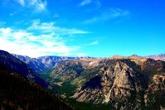 Skönhet av berg för område för montana statabsaroka Arkivfoton
