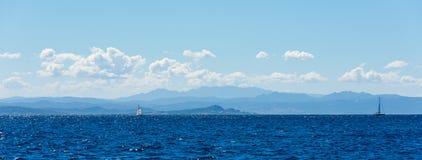 Skönhet av den Korsika naturen Arkivbild