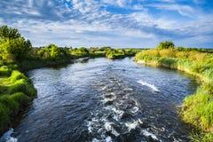 Skönhet av floden på en solig dag Royaltyfri Foto