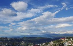 Skönhet av Kohima, Nagaland arkivfoto