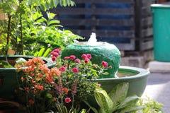 Skönhet av vattenträdgården på Pattaya Thailand Royaltyfria Bilder