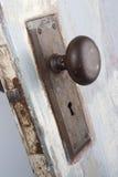 Skönhet i den gammala antika dörrknoppen och låser Fotografering för Bildbyråer