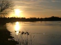 Skönhet i natur & x28; solnedgång Royaltyfri Foto