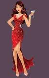 Skönhet i rött Royaltyfri Fotografi