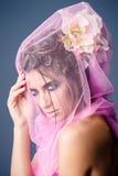 skönhet isolerad ståendewhite Royaltyfri Fotografi