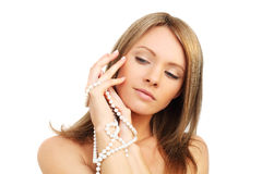 Skönhet - kvinnaframsida Royaltyfri Fotografi