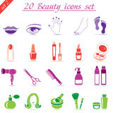 Skönhet- och makeupsymboler (uppsättning 2) Royaltyfria Foton