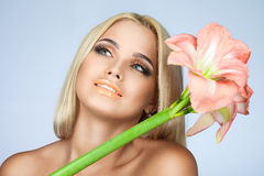 Skönhet och mjukhet i kvinnor royaltyfria bilder