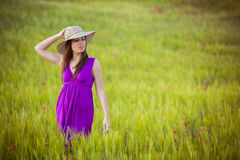 Skönhet på fält Royaltyfri Fotografi