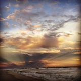 Skönhet på stranden Arkivbild